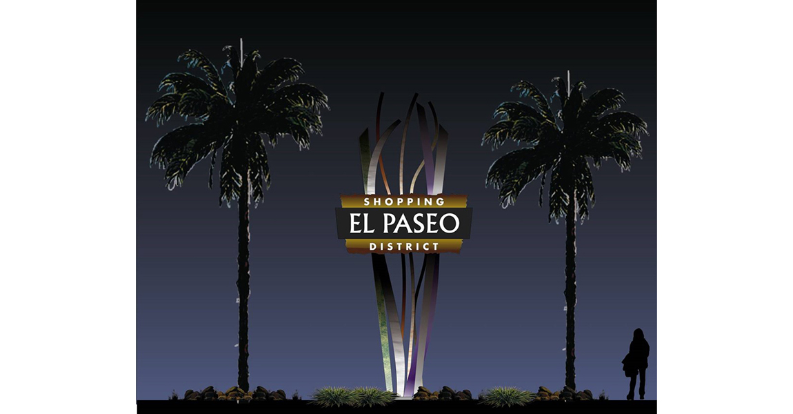 El Paseo Freeway Signage at night
